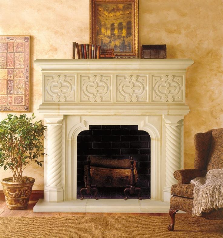 121 best Cast Stone Fireplace Mantels images on Pinterest   Stone ...
