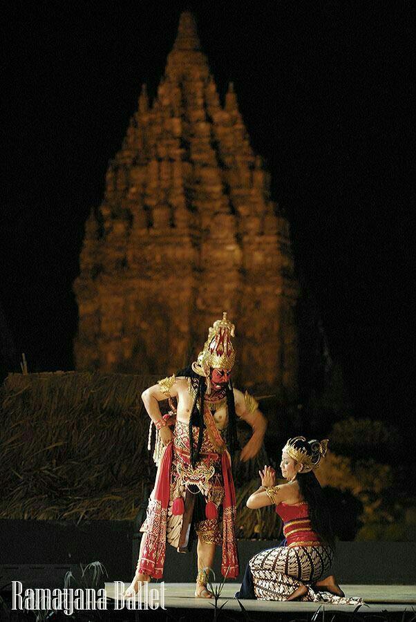 Rama & Sinta di Wayang Orang - Candi Prambanan - Yogyakarta