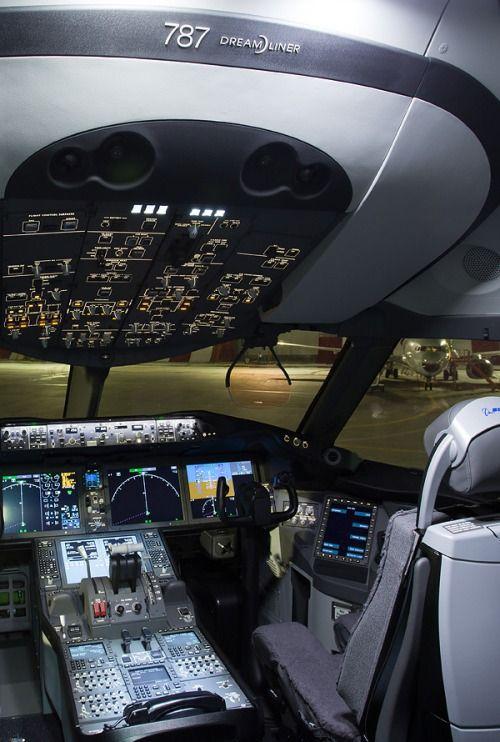 Cabina del Dreamliner 787