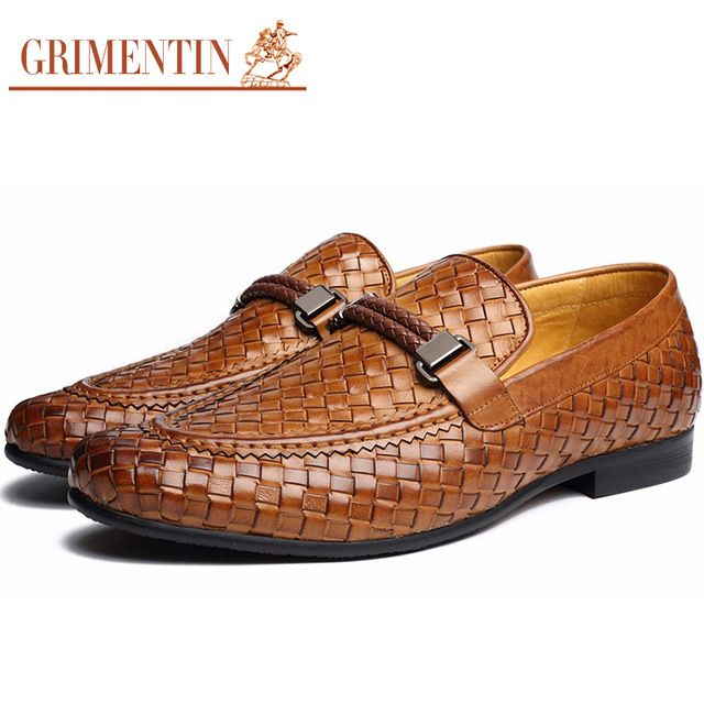 Buy now GRIMENTIN Brand fashion braided mens formal shoes genuine leather brown black Italian men shoes just only $69.76 with free shipping worldwide  #menshoes Plese click on picture to see our special price for you