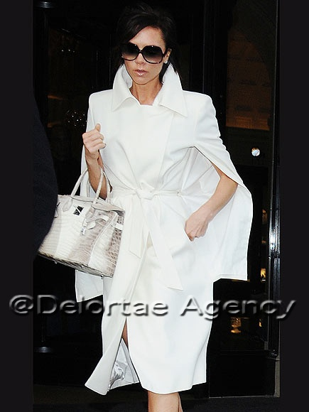 hermes paris handbags - Victoria Beckham with her Himalaya 30cm Crocodile Birkin ...