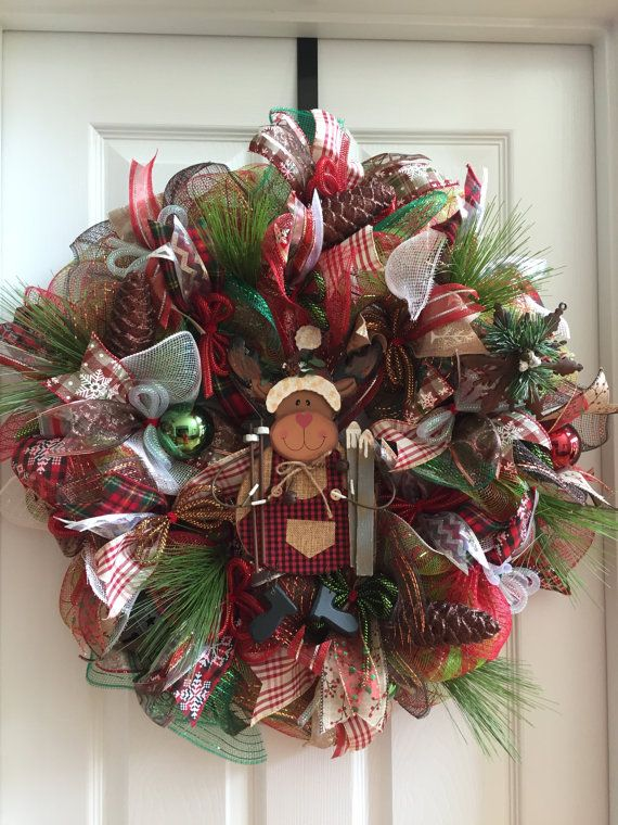 51 best Moose Wreath images on Pinterest Moose, Wreaths and - moose christmas decorations