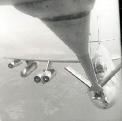 B-47 being refueled. Gleanings and Musings, Courtesy of a Veteran Cold Warrior: Anti-Flash White And Bare Aluminum
