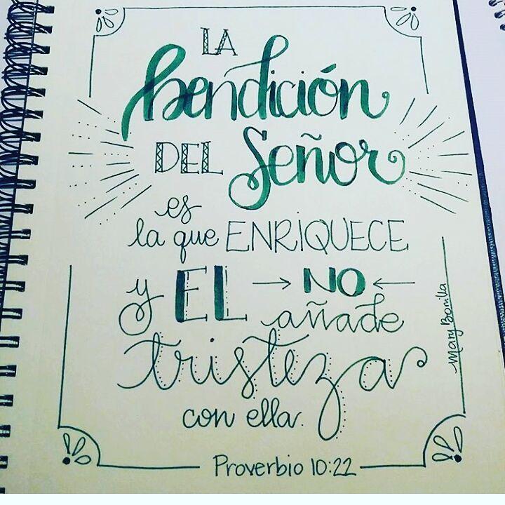 """238 Me gusta, 3 comentarios - Diario Bíblico (@diariobiblico) en Instagram: """"#MiDiarioBíblico #Lettering #BibleJournaling #Biblia por @maribonilla23"""""""