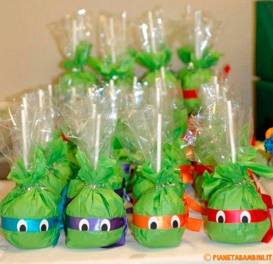 Fiestas infantiles de las Tortugas Ninja: regalo sorpresa