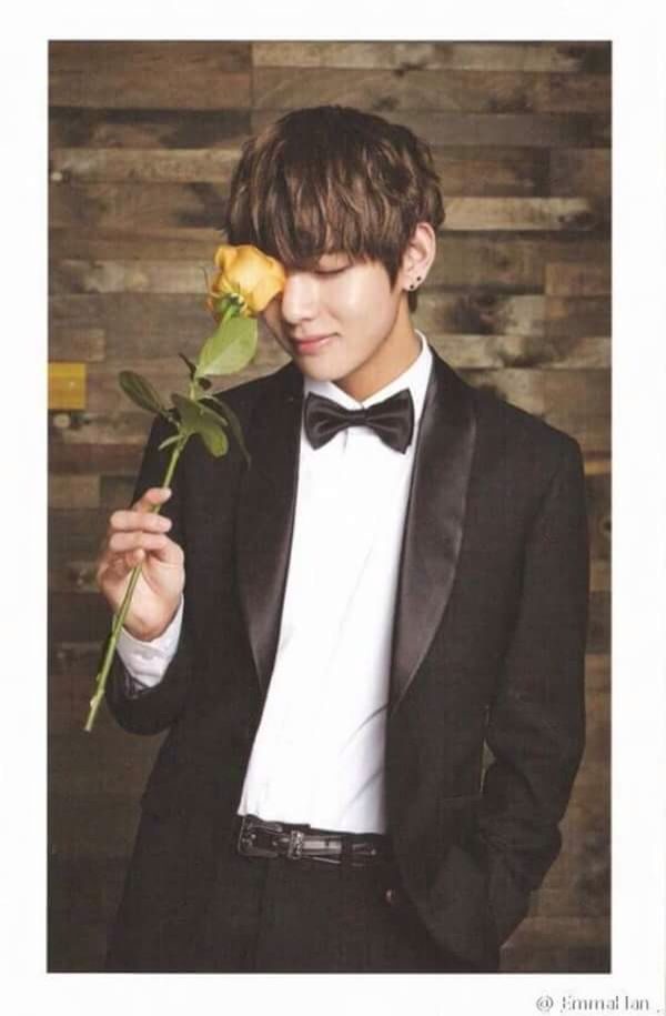 Are You Giving That Flower To Me Bts Kim Taehyung