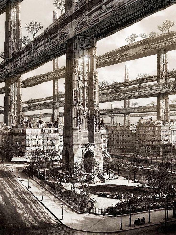 HUGH FERRISS e A Metrópole do Futuro. Hugh Ferriss (1889 – 1962), arquiteto de St. Louis, Missouri, dedicou a sua carreira ao desenho de projetos e, a partir de sua mudança para Nova York em 1912, trabalhou com alguns dos mais influentes arquitetos de sua época. No entanto foram suas ilustrações, de prédios que nunca se tornariam realidade, que o imortalizaram como um ícone de muitas gerações de arquitetos, cineastas e até ilustradores de revistas em quadrinhos.
