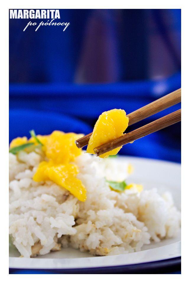 Ryż kokosowy z mango i kurczakiem