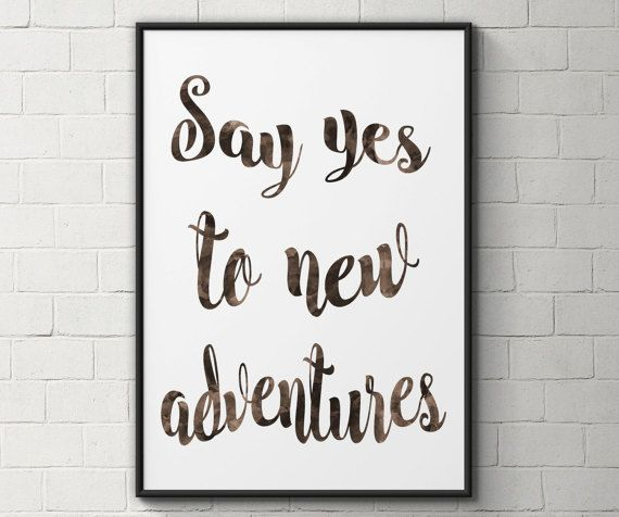 Adventure quote print inspirational quote wall by BeauTypographie