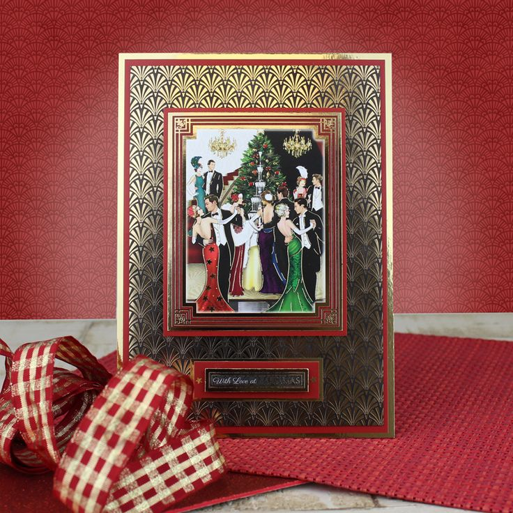 Card created using Hunkydory Crafts' An Art Deco Christmas Craft Stack