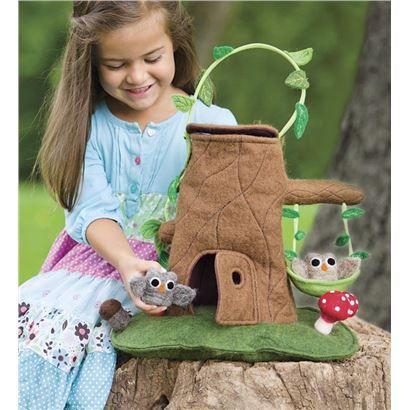 Felt Tree Stump Cottage Carrier