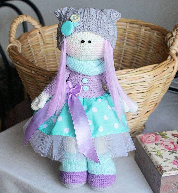 Конфетная сладкая малышка Домик нашла❤ #diana_knittoys #handmade #madeinukraine #amigurumi #doll #crochetdoll #tilda #weamiguru #амигуруми #вязание #ручнаяработа