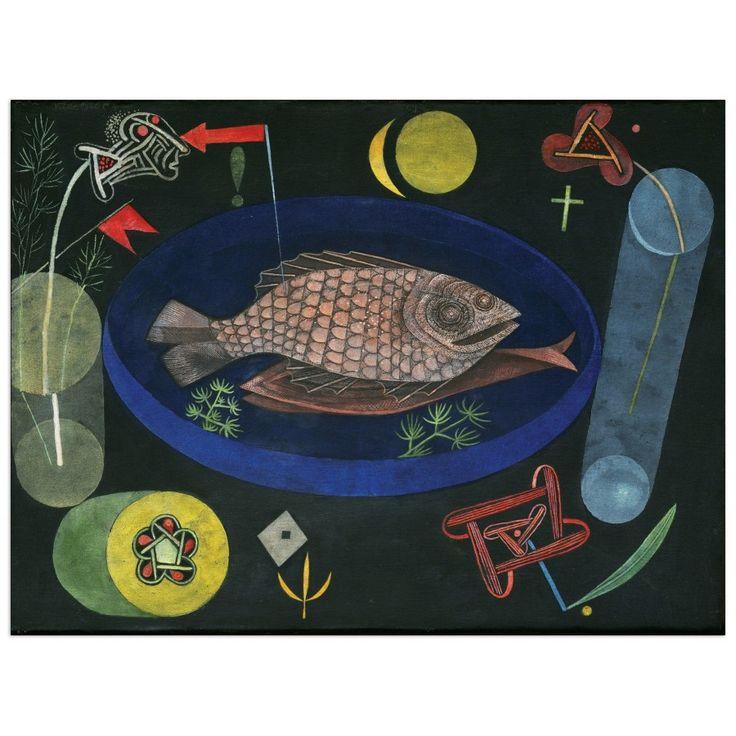 KLEE - Around the fish 80x60 cm #artprints #interior #design #art #print #animals  Scopri Descrizione e Prezzo http://www.artopweb.com/EC21679