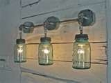 Like it for an Americana Bathroom. lots of jar tips