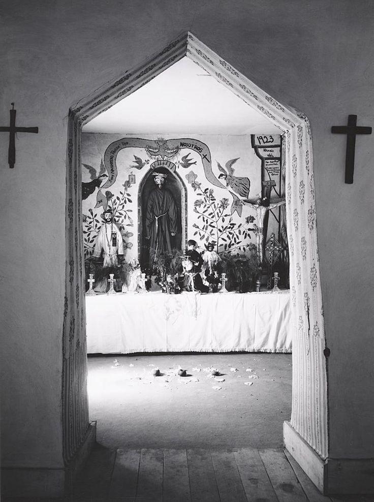 1930 Interior, Penitente Morada, Espanola, New Mexico By Ansel Adams