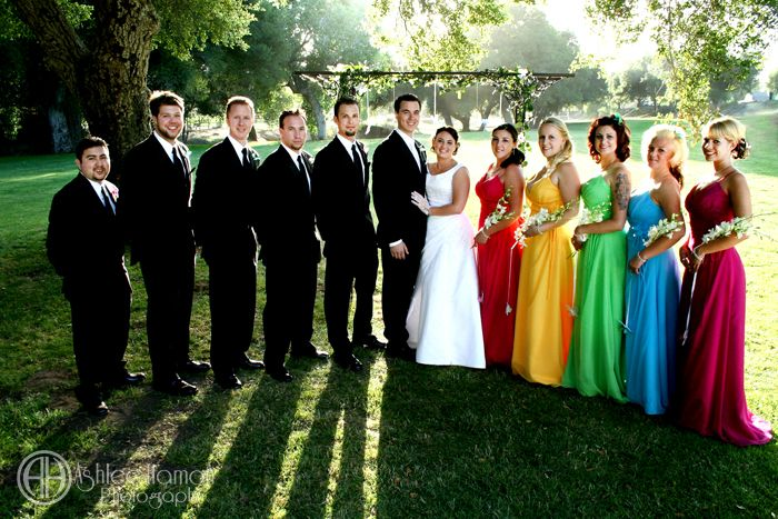 LOOK @Carly Hazlip ! I found another rainbow wedding party! hahaha