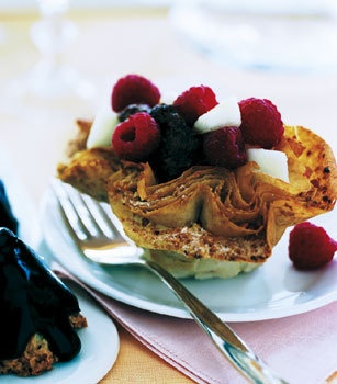 Phyllo Cups with Chocolate Mousse and Fresh Fruit