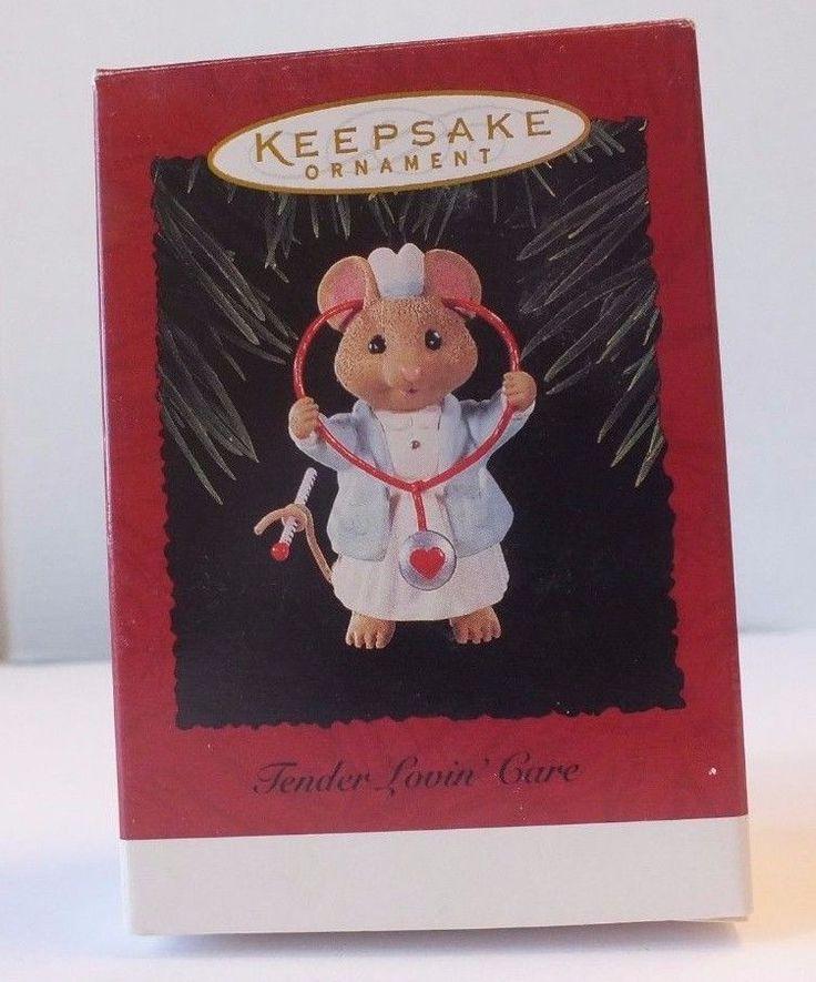 Hallmark Keepsake Ornament Tender Lovin' Care 1996 Mouse RN Nurse Gift W/ Box #Hallmark