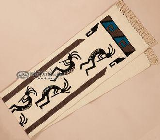 Textured Southwestern Table Runner 13x72 -Kokopelli (hirun1)