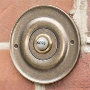 Brass Door Bell with Ceramic Push