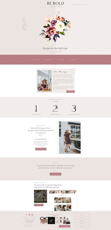 Be Bold Design Studio Website Branding Webdesign Studio Creative Minimalist Feminin Web Design Inspiration Web Design Studio Branding Design Inspiration