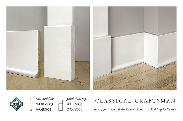 CLASSICAL CRAFTSMAN BASE MOLDING by WindsorONE, via Flickr  floor molding and plinth block