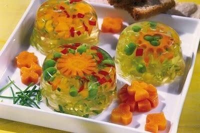 Vegetable Aspic made from Agar Agar