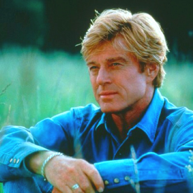 "Robert Redford in ""The Horse Whisperer."" what a great movie! If you like this movie please watch ""Buck"" where it originated!"