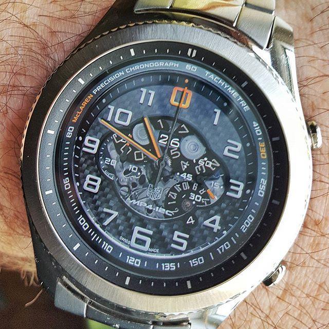 REPOST!!!  Day 87.  #tagheuer #tag #heuer #tachymetre #chronograph #mp412c #mclaren #mclarenf1 #f1 #sportscar #supercars #lux #luxury #carbonfibre #britishengineering #woking #samsunggears3 #samsung #s3 #smartwatch #gear #watchface #watch #tech #replica #wearables #tizenos #black #swiss #swissmade  Photo Credit: Instagram ID @who_watches_the_watchers