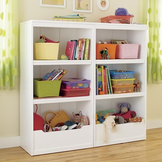 Kids' Bookcases: Kids White Flat Top