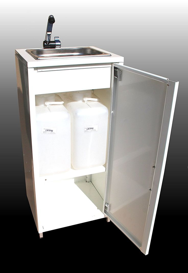 Bbt Mobiles Waschbecken Im Stahlblech Schrank Weiß