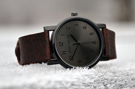 Vatertag Geschenk Watch Leder Uhr Herrenuhr von LeatherAndStyle