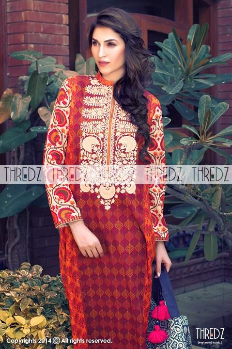Thredz New Eid-ul-Fitr Outfits Collection 2014 for Women (7)