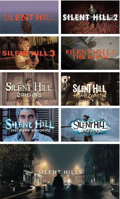 "All ""Silent Hill"" - xbox, playstation, etc. (want to try a few at least; love horror)"