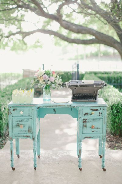 .love the photography of this painted desk