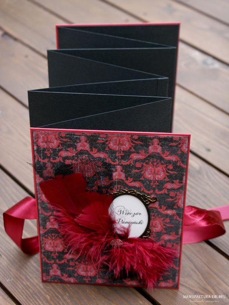 "manufaktura koloru - handmade accessories: # 217 - leporello ""Wieczór Panieński"""