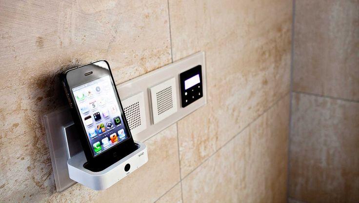 Lautsprecher mit Smartphone Docking-Station – für die Lieblingsmusik beim duschen! www.mini-bagno-mainz.de