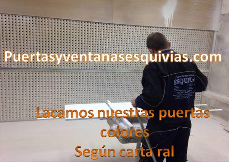 lacamos nosotros mismos en nuestra cabina de lacado. http://www.puertasyventanasesquivias.com/lacados.html