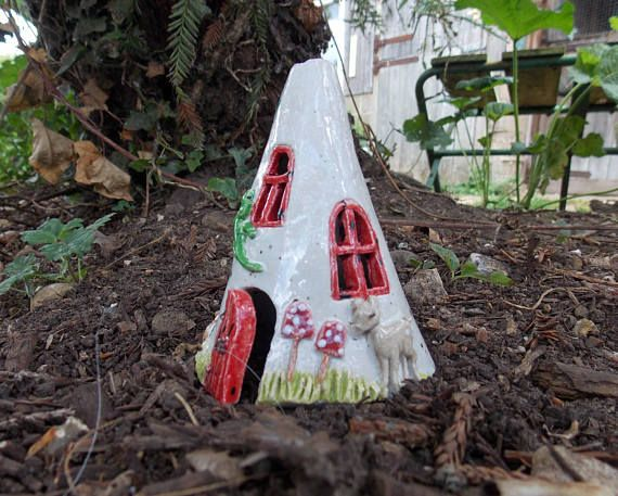 Ceramic Fairy House  stoneware and frost proof