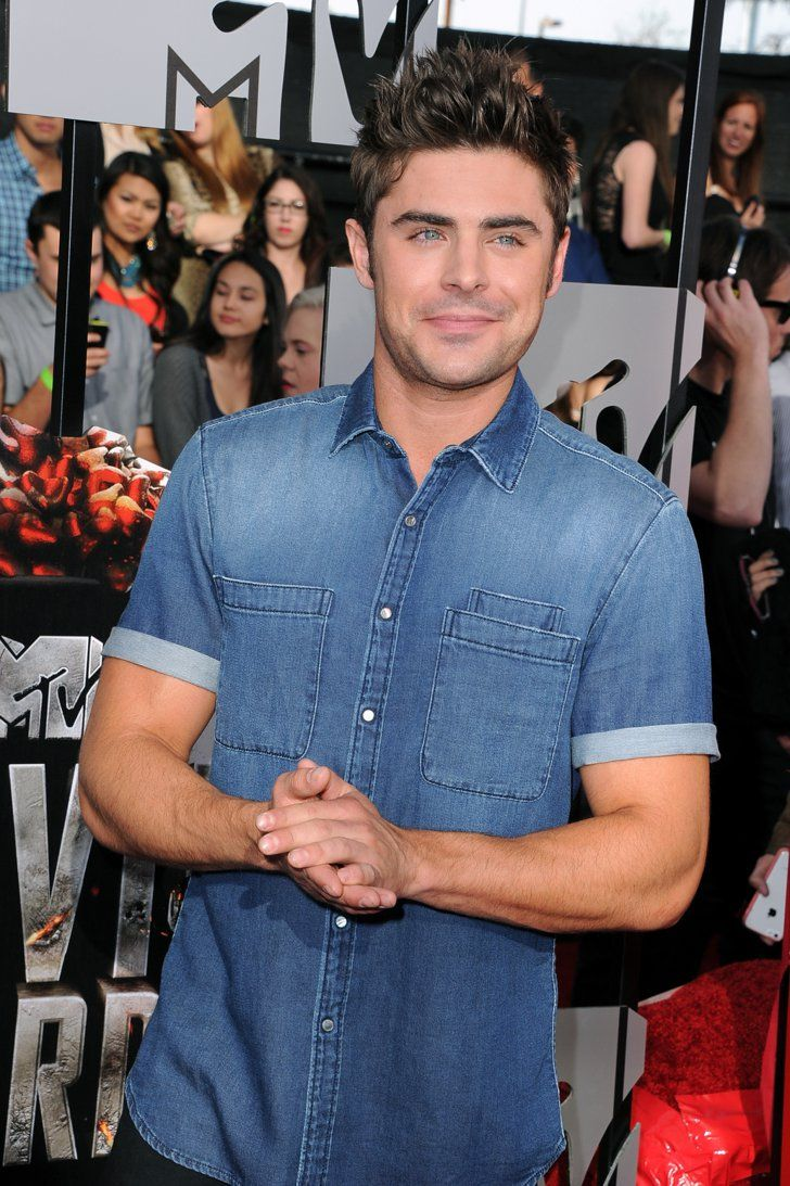 Pin for Later: Hollywood Hits the MTV Movie Awards Red Carpet Zac Efron