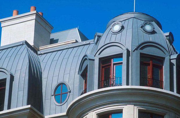 Beautiful zinc attic roof