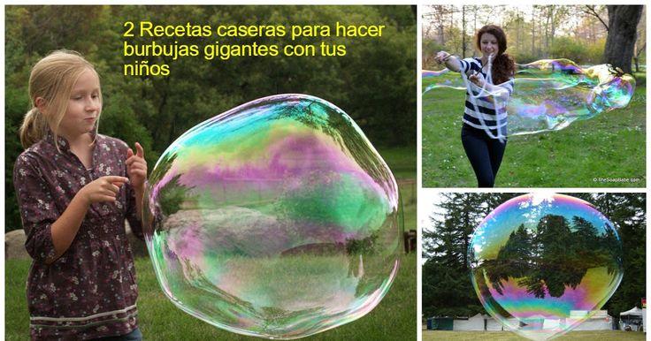 Haz burbujas gigantes con tus niños con estas 2 recetas caseras