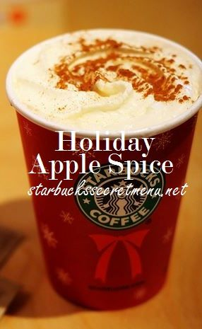 Celebrate the holidays with a Starbuck's Holiday Apple Spice! #StarbucksSecretMenu Recipe: http://starbuckssecretmenu.net/starbucks-secret-menu-holiday-applespice/
