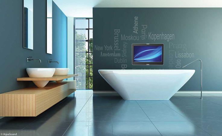 info over badkamers wellness muziek, tv en tablet in de badkamer www.infooverbadkamers.nl