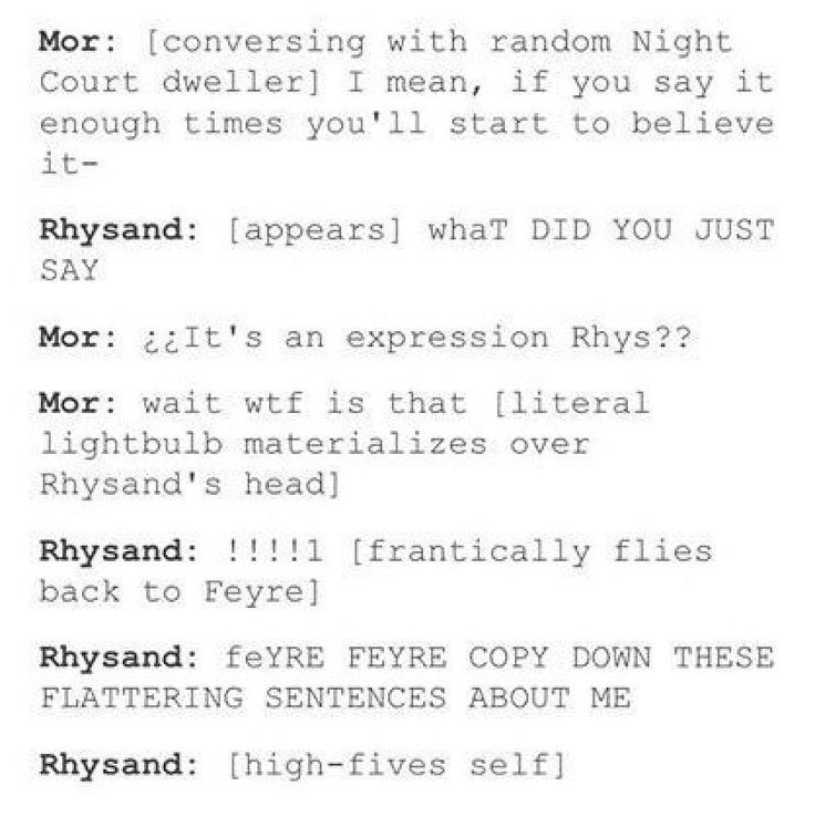 Just some jokes for people who've read ACOTAR, ACOMAF and the Throne … #random Random #amreading #books