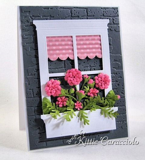 I LOVE that she always gives a tutorial on how she makes her cards. Gorgeous!!