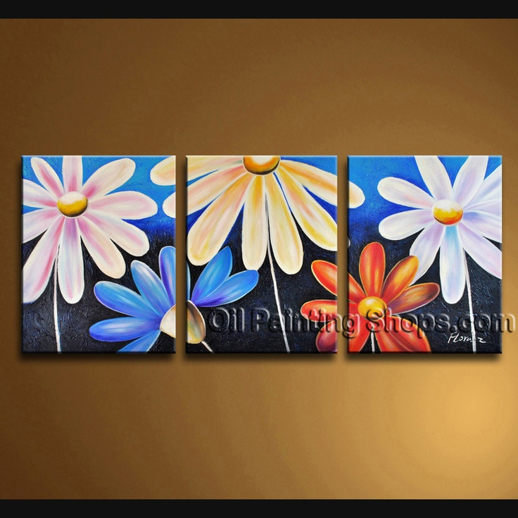 Stunning Contemporary Wall Art Floral Painting Egg