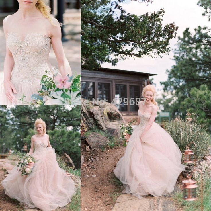 Потрясающие 2016 свадебные платья без бретелек кристалл органзы свадебное платье суд поезд бальное платье шампанское свадебные платья UM1942