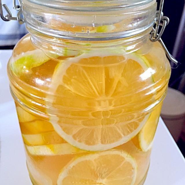 またまた作りましたん♪ 教えてもらったレモン酢♡  これ、本当に手放せません!  レモン酢+焼酎+ソーダ水のレモン酎ハイは、お客さんにも人気です(*´ ˘ `*)  娘には、ソーダ水で割ってレモンドリンクに。  ドレッシングやカルパッチョにも本当によかです!(≧∇≦)b - 85件のもぐもぐ - key♪さんの料理 万能レモン酢!リピ3回目〜♡ by taepyonpyon