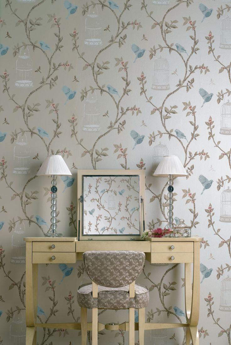 Birdcage Walk Wallpaper | Nina Campbell Nina Campbell